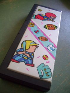 Flomo Baseball Pencil Case Vintage Boys Pencil Box by JirjiMirji, €48.90