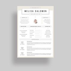 Creative And Professional Resume Template In Microsoft Word Cv
