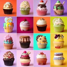 Whoa - check out this amazing cupcake grid from @thescranline! I want this on a canvas!! by mycupcakeaddiction