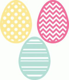 Silhouette Design Store - View Design #40381: 3 easter eggs