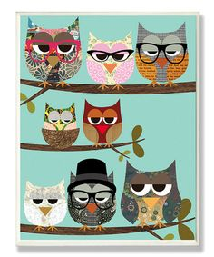 Love this Professional Owls Wall Art by The Kids Room by Stupell on #zulily! #zulilyfinds