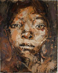 Portrait of a young girl - Benon Lutaaya