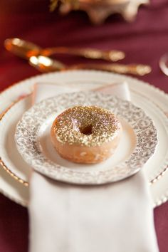 Sparkly glitter donuts.