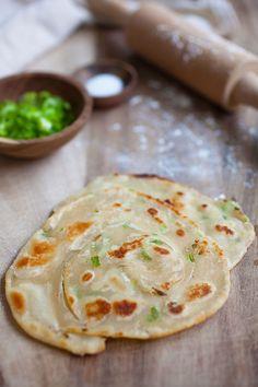 Scallion Pancake - crispy Chinese green onion pancake loaded with lots of scallion. . ☀CQ #appetizers
