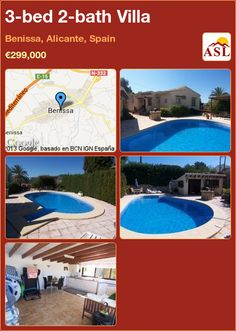 3-bed 2-bath Villa in Benissa, Alicante, Spain ►€299,000 #PropertyForSaleInSpain
