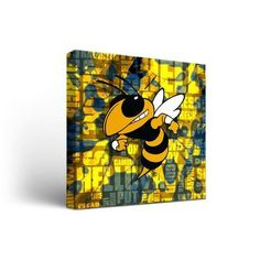 """Victory Tailgate NCAA Fight Song Framed Graphic Art on Wrapped Canvas NCAA Team: Georgia Tech Yellow Jackets, Size: 12"""" H x 12"""" W x 1.5"""" D"""