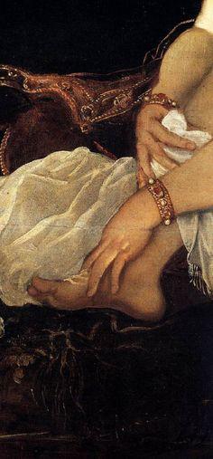 Susana y los viejos (Detalle)  Tintoretto