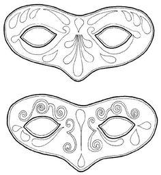 99 fantastiche immagini su carnevale disegni da colorare for Immagini maschere carnevale da colorare
