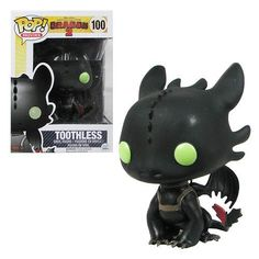 """This Funko POP! Vinyl figure of Toothless from How to Train Your Dragon 2 stands about 3 3/4 inches tall and comes in a collectible window display box. Toothless is a beautiful Night Fury dragon with jet black scales who is Hiccup's companion and best friend in the movie. He's very intelligent, although he can have a bit of an attitude at times!  """"He's down! Ah, and it's ugly! Dragons and Vikings, enemies again!"""" --Hiccup, How to Train Your Dragon 2 (2014) #nesteduniverse"""