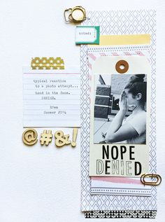 #papercrafting #scrapbook #layout DENIED by jenkinkade at @studio_calico