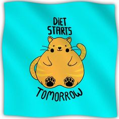 Diet Starts Tomorrow Fleece Throw Blanket
