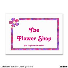 Cute Floral Business Cards