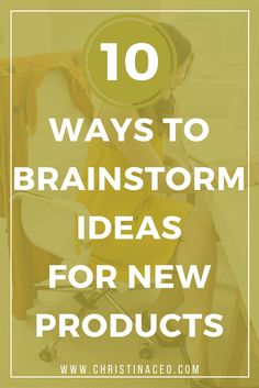 10 Ways to Brainstorm Ideas for New Products on Etsy
