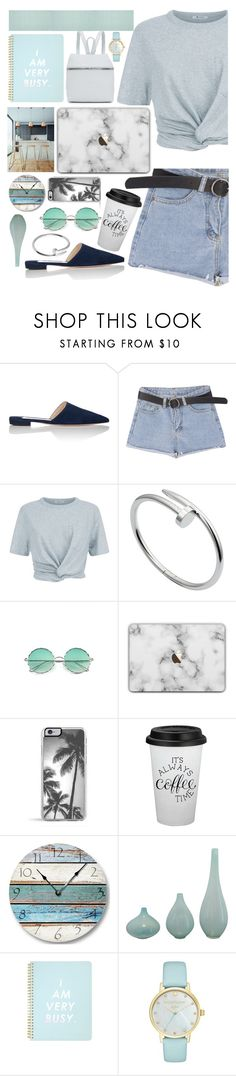 """""""I am very busy"""" by fanfanfanfannnn ❤ liked on Polyvore featuring Prada, T By Alexander Wang, Cartier, ban.do, Kate Spade, Kara, Safavieh, Summer and outfit"""