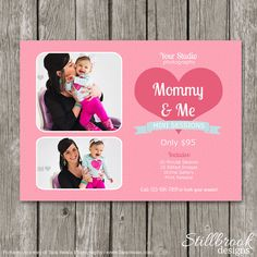 Mom & Me Mini Session Template - Mommy and Me Marketing Board - Mother's Day Template - Newborn Mini Session Flyer - MS21