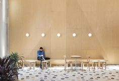 Masa Bakery in Bogota, Colombia by Studio Cadena Tiered Seating, Outdoor Seating, Concrete Bar, Terrazzo Tile, Retail Space, Studio, Architecture, Fresco, Dining Area