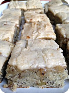Banana Bread Bars with Brown Butter Frosting - what takes these bars to the next level and beyond is the brown butter frosting.  I can't really explain it, but this combination just works.  More than works, actually.  It's like peanut butter and jelly, simply made for each other.