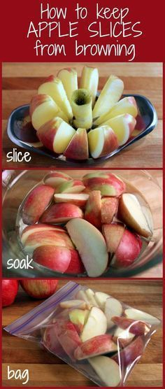 How to Prevent Apple & Pear Slices from Browning. Including using fruit fresh. @theyummylife