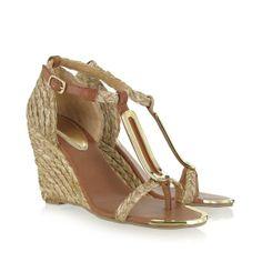 Raffia: An excellent party shoe to show off a pedicure.