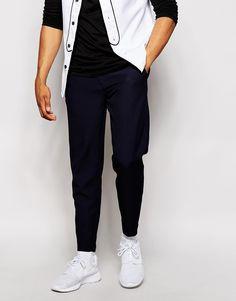 ASOS - Pantalon de jogging élégant coupe slim en tissu texturé