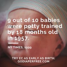 (Do you know the average age today?) Learn more about Elimination Communication at http://godiaperfree.com #ReadyForPottyTraining?
