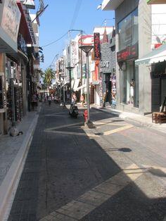 The pedestrians' street at Hersonissos