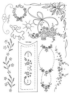 CLASSIC EMBROIDERY DESIGNS SET ONE is a collection of over 90 vintage motifs and designs for hand embroidery. Suitable for embellishing heirloom garments and many other items with surface embroidery or shadow work. Available at http://craftsy.me/1NT4kJ9