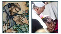 Francisc şi sărutul dat bolnavului Baseball Cards, Portrait, Men Portrait, Portrait Illustration, Portraits