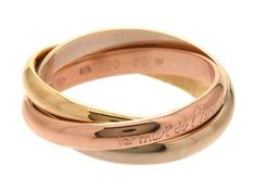 MUST DE CARTIER, 18K three-coloured gold, Trinity, size 66 (21 mm), weight 11,9 g. #ring *#cartier #trinity