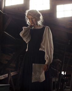 Samuji Amberla Dress and Annasofia Silk Blouse | Photographer Veikko Kähkönen, stylist Mari Kosunen