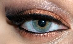 Copper for blue/green eyes <3