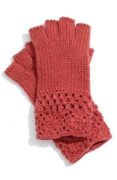 Knit and crochet inspiration. I could use a pair of these. . . grey!?