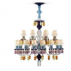LLADRO PORCELAIN chandelier 01023294 24 Ligthing-multicolor (CE/UK) 23294 NEW