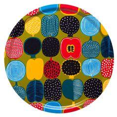 Marimekko fruit patterned tray