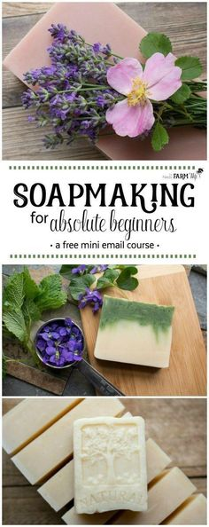 Soapmaking for Absolute Beginners - a free mini email course #soapmakingforbeginners Soap Making Recipes, Homemade Soap Recipes, Recipes For Beginners, Candle Making For Beginners, Sewing For Beginners, Diy Soaps, Handmade Soaps, Soap Molds, Lye Soap