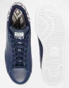 adidas stan smith bleu python