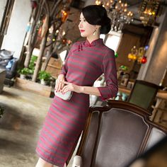 >> Click to Buy << 2017 Chinese Dress New Winter Dress Daily Improved Fashion Slim Cotton Cheongsam Tang Dreamspell Factory Direct Sales  #Affiliate