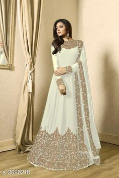 Shop for Indian Anarkali Suits and Beautiful Georgette Long Anarkali Dresses Gown Dress Party Wear, Party Wear Long Gowns, Long Gown Dress, Maxi Dress Wedding, Party Wear Sarees, Gown Wedding, Indian Wedding Gowns, Indian Gowns Dresses, Pakistani Dresses