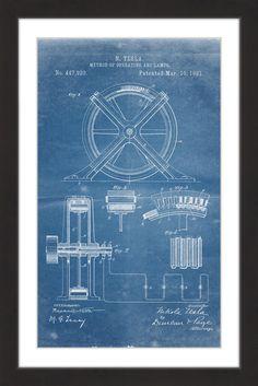 Split rock lighthouse architectural blueprint art print duluth tesla arc lamp 1891 blueprint malvernweather Gallery