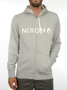 Basic Zip Hoodie for men by Nixon  80% Cotton 20% Polyester  Model is wearing a size medium