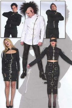 Institutionalized Bondage 2003 Black long skirt + dress