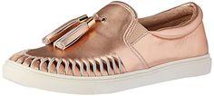 JSlides Women's Cheyanne Fashion Sneaker, Rose Gold, 8 M US