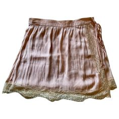 Mini skirt Free People Pink size S International in Synthetic - 11100706 Lace Wrap, Free People Skirt, Pink Lace, Luxury Consignment, Boho Shorts, Mini Skirts, Things To Sell, Clothes For Women, Pretty