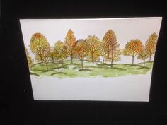 The Crafty Potting Shed: Autumn is here - Stampin up Lovely as a tree