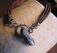 Freshwater Pearl Sterling Silver Leather Bracelet by LunarMuse, $75.00