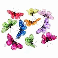 """Butterfly garland. Nice light colors. Very pretty! 78"""" long"""