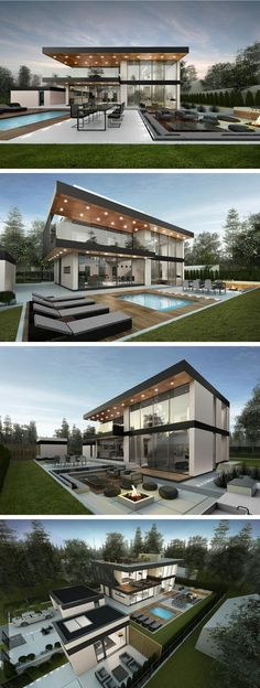 modern house in Stockholm by Ng architects www.lt: modern house in Stockholm by Ng architects www. Casas Containers, House Goals, Modern House Design, Modern House Exteriors, Modern Glass House, Glass House Design, Modern House Plans, Modern Exterior, Home Fashion