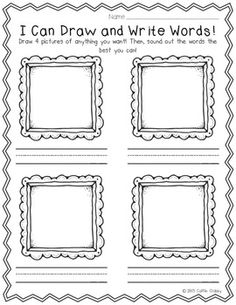 work on writing kindergarten
