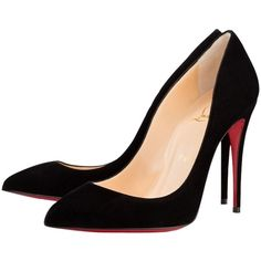 Pre-owned Christian Louboutin Size Black Suede So Kate 42 Pumps (8 090 ZAR) ❤ liked on Polyvore featuring shoes, pumps, pointed-toe pumps, black suede pumps, stiletto pumps, black suede shoes and high heels stilettos