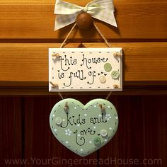 A Wooden Home Sign - Click for Bigger Image